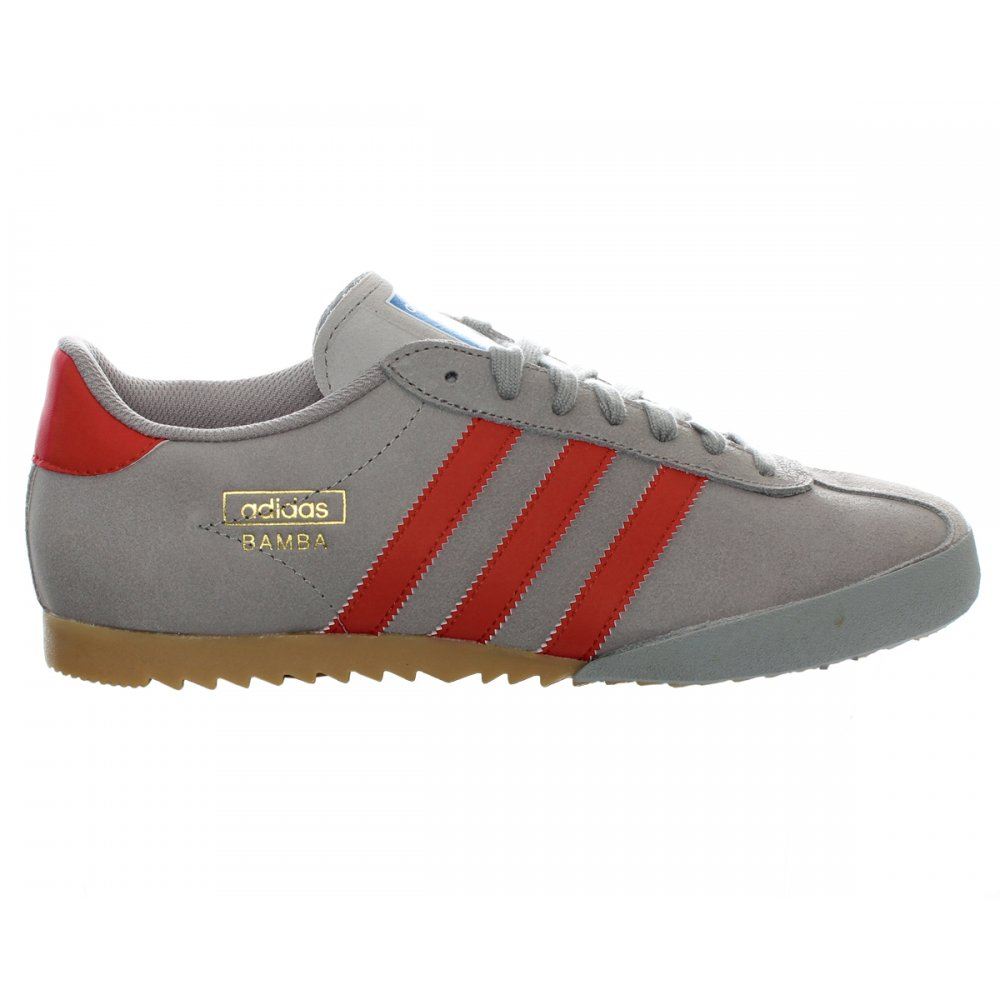 Adidas Bamba Trainers Grey And Red
