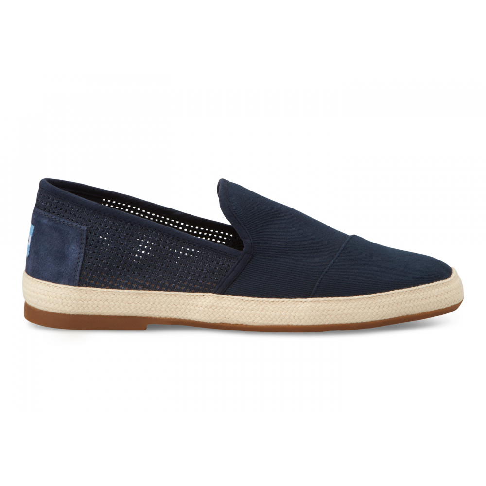 toms sabados freetown slip on shoe navy toms from