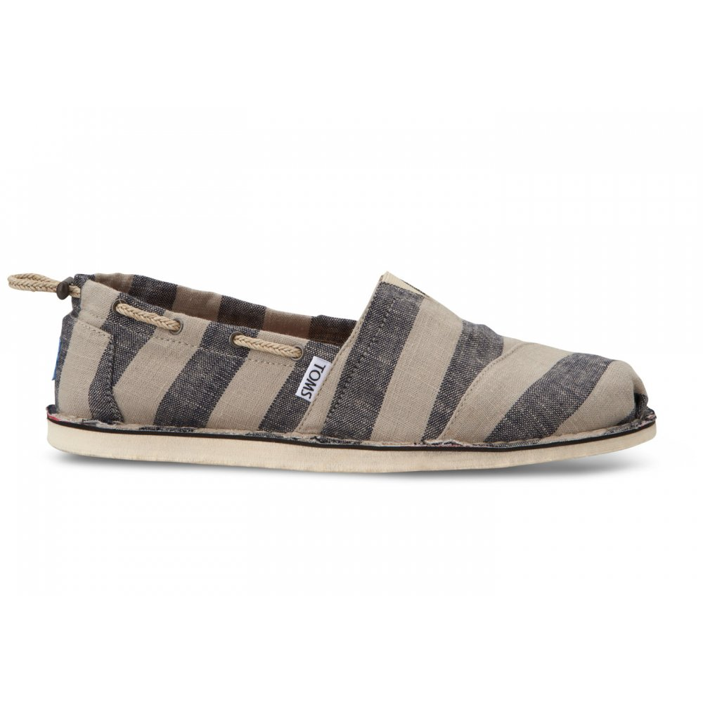 f986fd6a3a108 TOMS Biminis Slip On Shoe Black & Tan Stripe - TOMS from twistedfabric UK