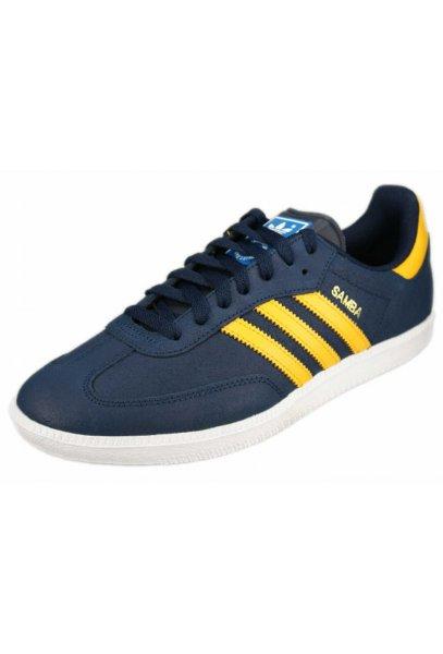 adidas samba blue and yellow