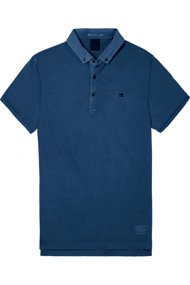 SCOTCH & SODA Garment Dyed Jersey Polo