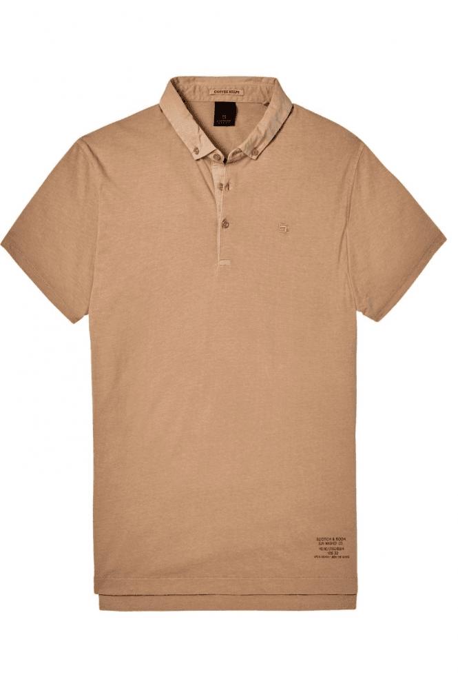SCOTCH & SODA Garment Dyed Jersey Polo