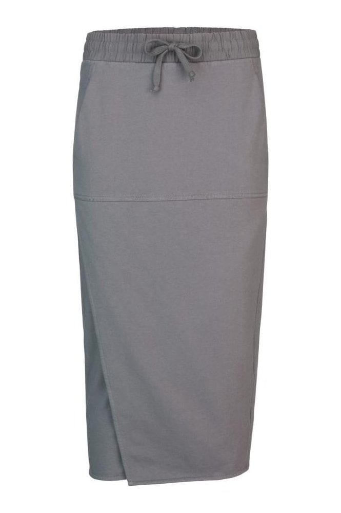 PENCIL SKIRT WITH SLIT AND KANGAROO POCKETS