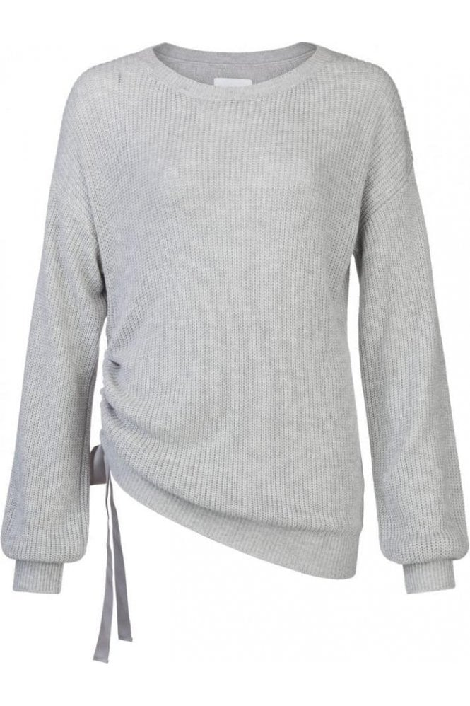 YAYA SWEATER WITH PUFF SLEEVE AND CORD AT SIDESEAM