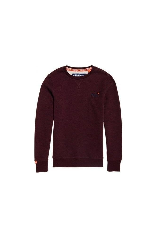 SUPERDRY Ol Crew Boston Burgundy Grit