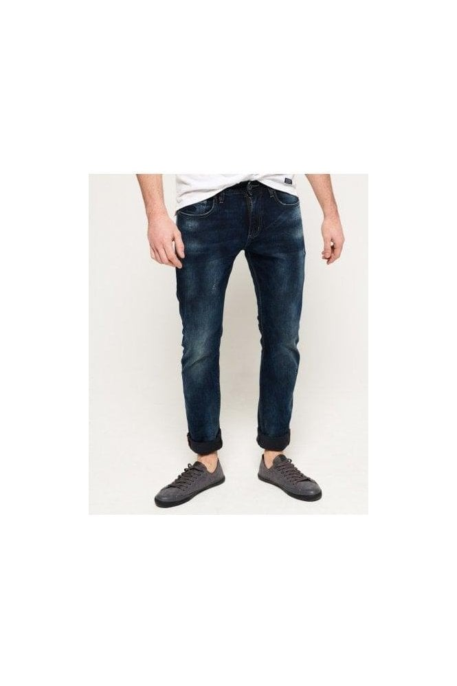 SUPERDRY Corporal Slim Jean Smokey Midnight