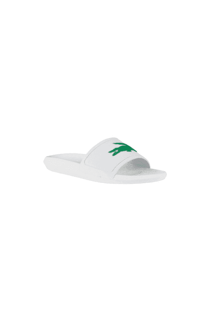 9dfef42d93ee LACOSTE Croco Slide 119 1 CMA White/Green - LACOSTE from twistedfabric UK