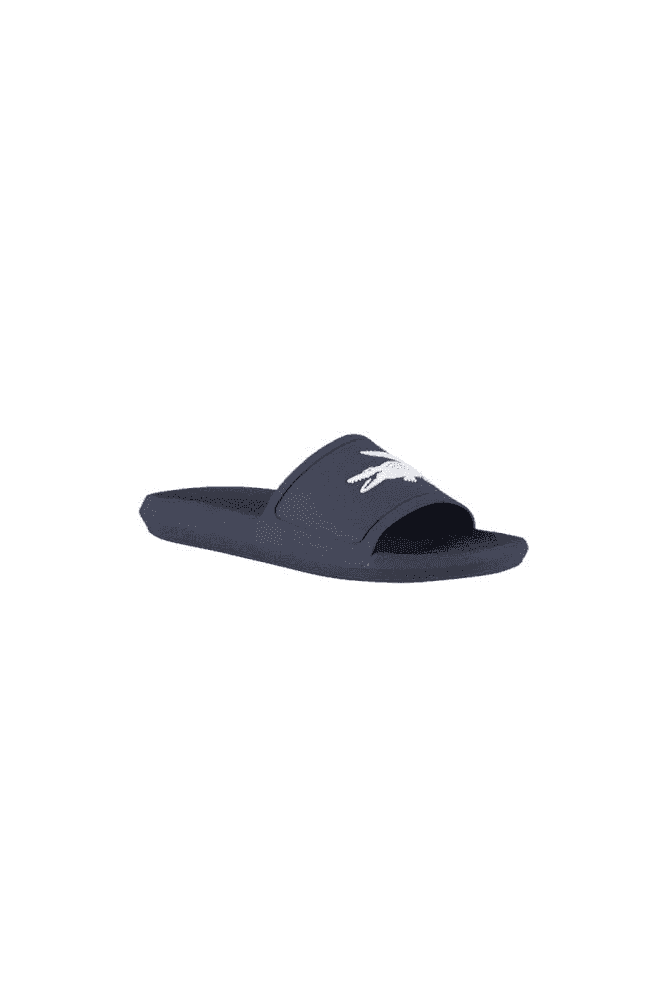 ebd9eb6bda5f LACOSTE Croco Slide 119 1 CMA Navy/White - LACOSTE from twistedfabric UK