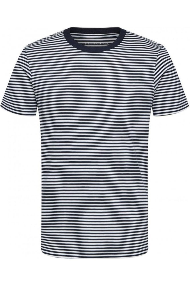 SELECTED HOMME Stripe Ss Tee White