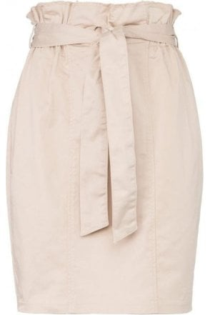 PENCIL SKIRT WITH PAPERBAG WAIST