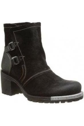Oil Suede/rug Heel Lory Boot