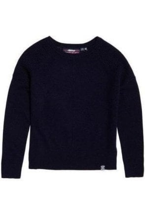 Superdry Bria Raglan Knit Soft Navy