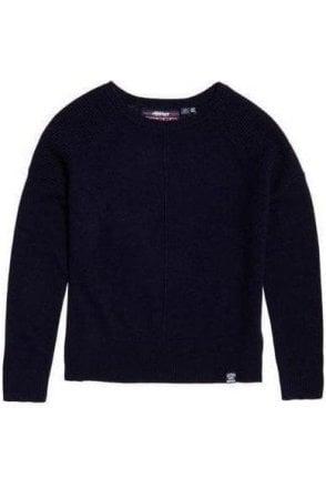Superdry Bria Raglan Knit Soft Navy