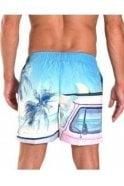 FRANKS Palm Tree Swim Short Blue