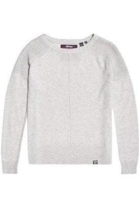 Superdry Bria Raglan Knit Dawn Grey Marl
