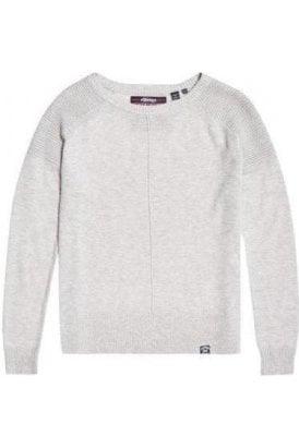 Superdry Bria Raglan Knit Dawn Grey Marl
