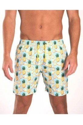 Pineapple Swim Short Sky