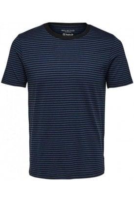 Stripe Ss Tee Blue