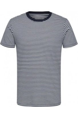 Stripe Ss Tee White