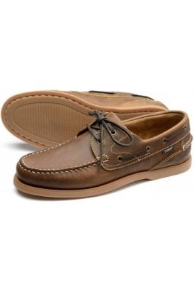 Crazy-horse 2 Eyelet Boat Shoe Brown