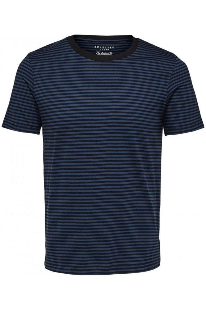 SELECTED HOMME Stripe Ss Tee Blue