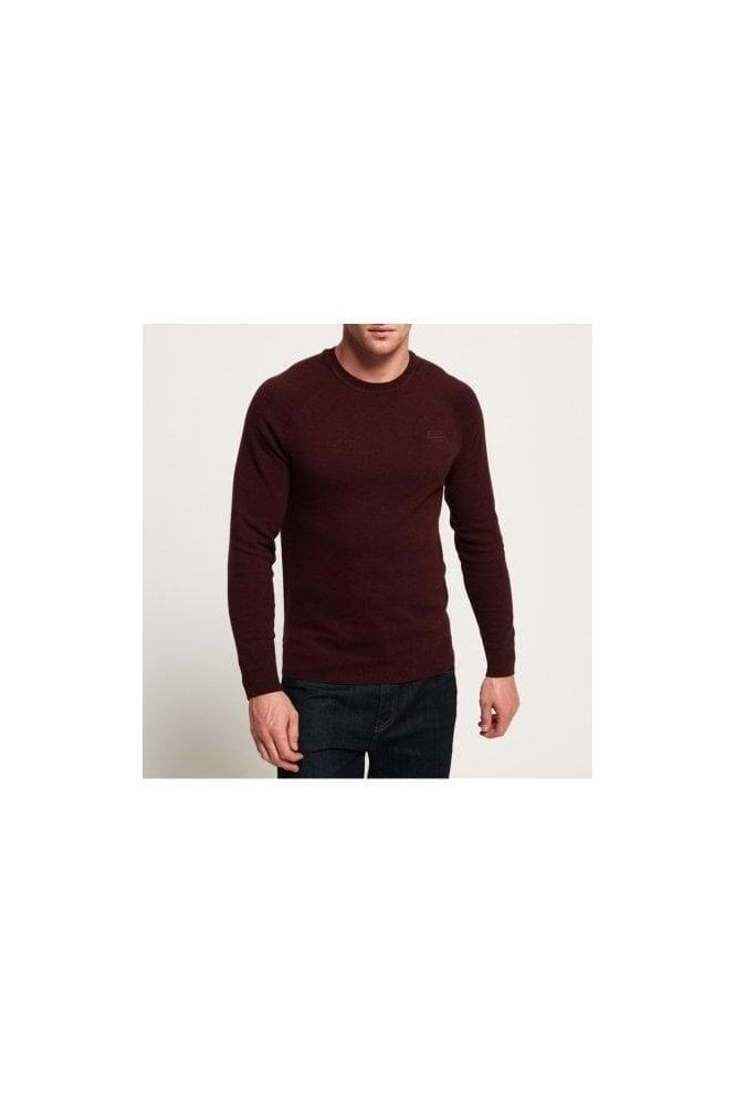 SUPERDRY Ol Cotton Crew Buck Burgandy