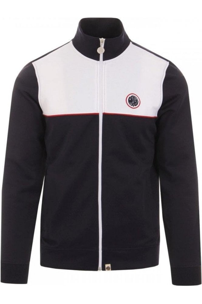 PRETTY GREEN Contrast Panel Track Navy
