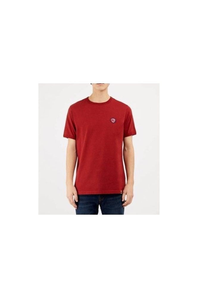 PRETTY GREEN Likeminded Crew Tshirt Red