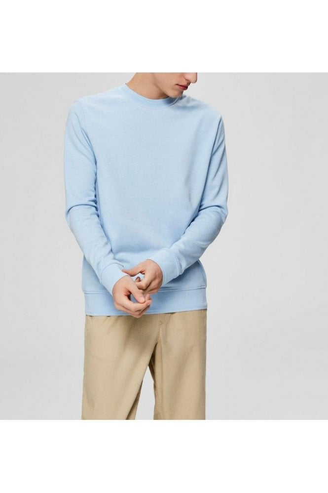 SELECTED HOMME Slhbono Crew Sweat Cashmere Blue