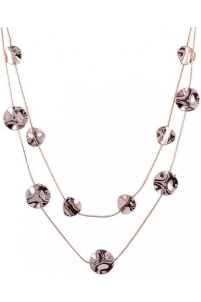 D&X LONDON Necklace Rose Gold Abstract Discs