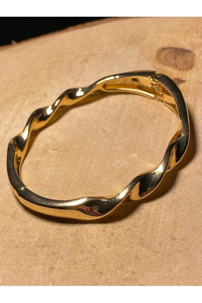 D&X LONDON Twist Bracelet Gold