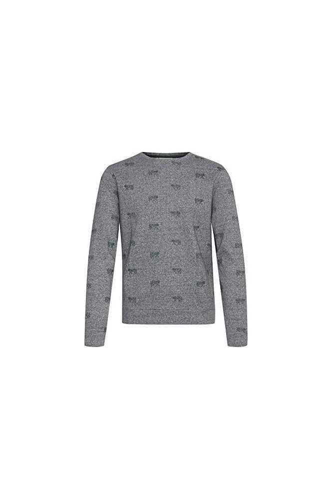 CASUAL FRIDAY Storm Sweatshirt Mid Grey Melange