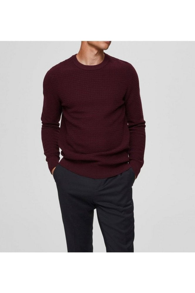 SELECTED HOMME Selected Slharon Crew Neck Winetasting