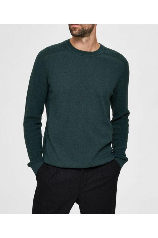 SELECTED HOMME Selected Slhdrake Crew Neck Sycamore