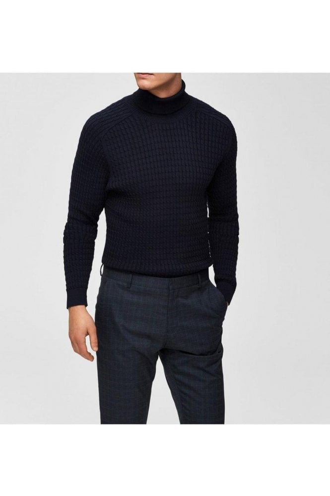 SELECTED HOMME Selected Slhcarlos Roll Neck Sky Captain