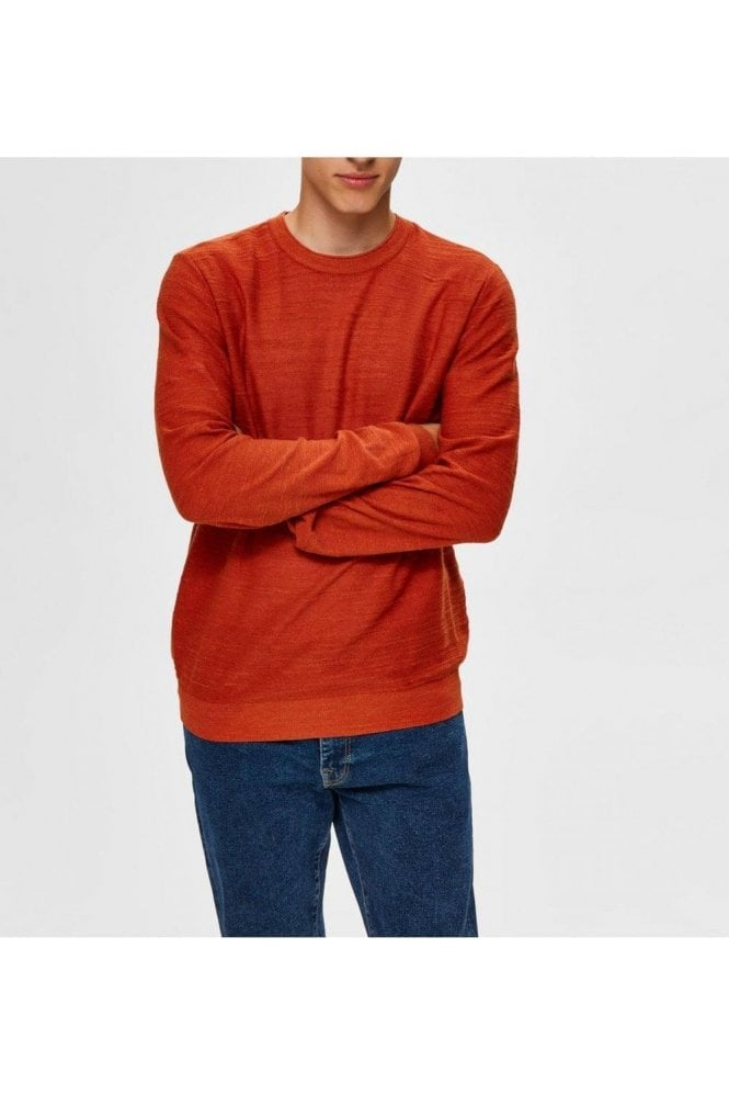 SELECTED HOMME Selected Slhbuddy Crew Neck Ketchup Melange