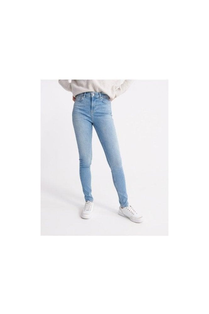 SUPERDRY High Rise Skinny Light Indigo Vintage