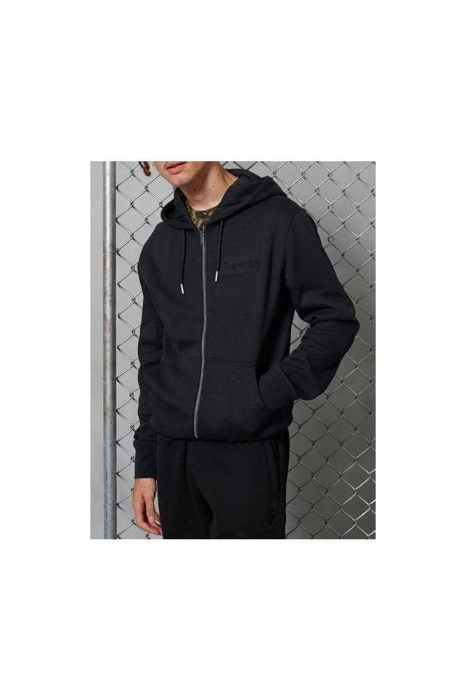 SUPERDRY Core Logo Tonal Ziphood Jet Black