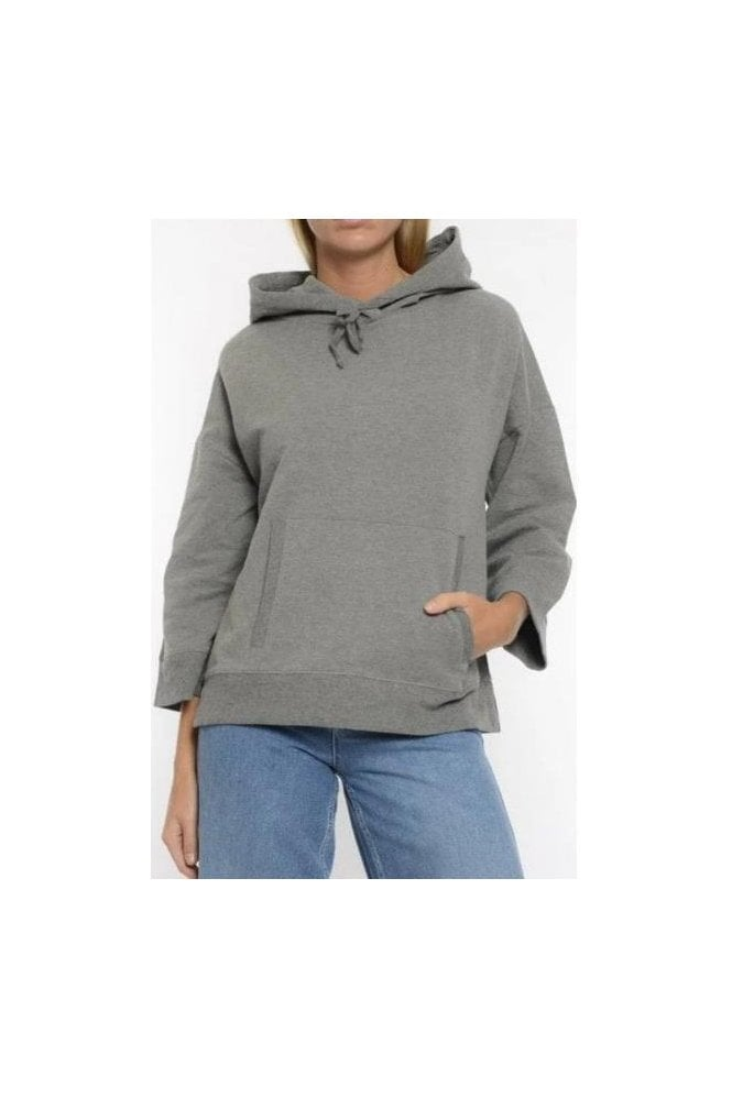 PART TWO Hooded Ls Tshirt Grey Melange
