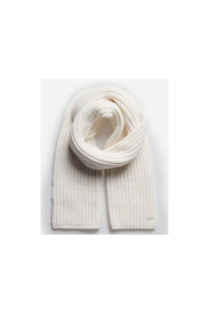 SUPERDRY Super Chunky Scarf Cream