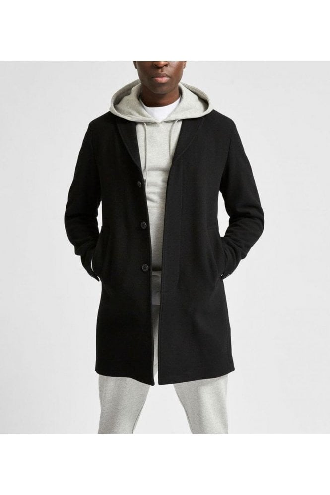 SELECTED HOMME Selected Slhhagen Wool Coat Black Twill