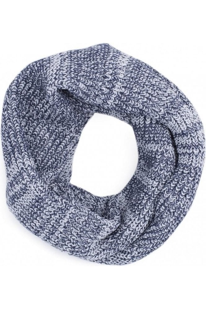 JACK AND JONES Jacrib Knit Tube Scarf Snood White Twist