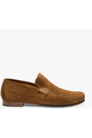 Loake Suede Apron Slip On Dark Brown