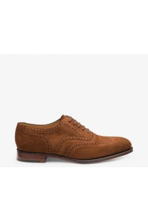 Loake Suede Oxford Full Brogue Polo