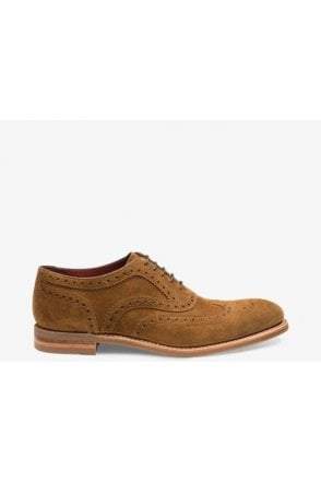Loake Tan Suede Spider Brogue Tan