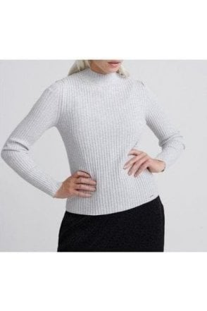 Superdry Annie Rib Jumper Ice Grey Marl