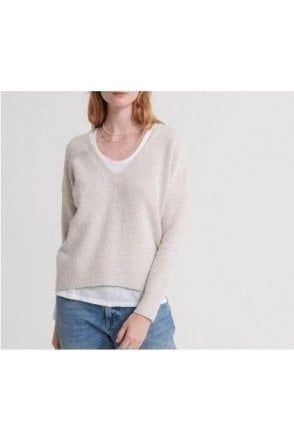 Superdry Isabella Vee Knit Oatmeal