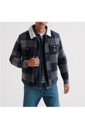 Superdry Hacienda Check Jacket Navy Check