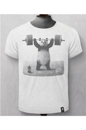 Panda Power Vintage White