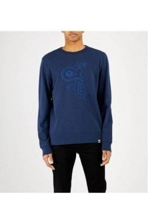 Pretty Green Marshall Logo Sweat Navy